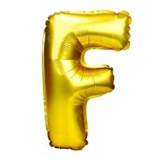 Globo Hinchable Dorado 55 cm Letra F