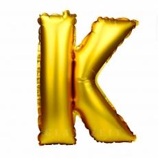 Globo hinchable dorado 55 cm letra K