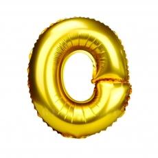 Globo hinchable dorado 55 cm letra O