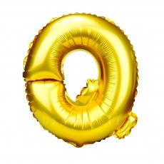 Globo Hinchable Dorado 55 cm Letra Q
