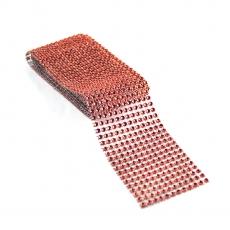 Rollo de strass flexible 6 cm x 1,8 m, rojo