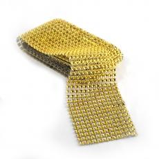 Rollo de strass flexible 6 cm x 1,8 m, dorado
