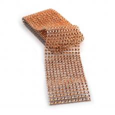 Rollo de diamantes de imitación flexible de 6 cm x 1,8 m, fresa