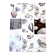 Set de 9 tarjetas de felicitación modelo X1