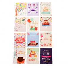 Set de 12 tarjetas de felicitación modelo X2