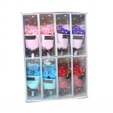 Conjunto de 8 ramos de rosas de jabón colores mezclados modelo 1