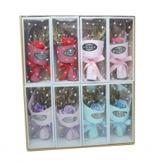 Set 8 ramos de rosas de jabón colores mezclados modelo 2