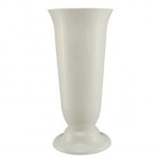 Florero de suelo 19 x 38 cm blanco