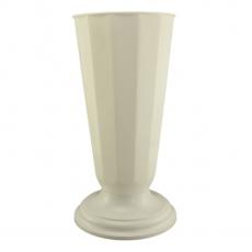 Florero suelo 19x48 cm blanco perla